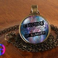 Music Band 5SoS 5 Seconds of Summer (3) Pendant Necklace Jewelry Charm  Gift