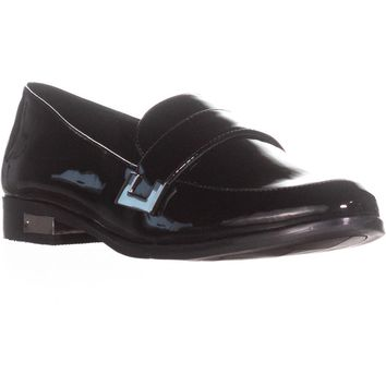 Marc Fisher Pagan Dress Loafer Flats, Black Patent, 7 US