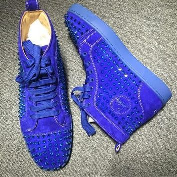 Cl Christian Louboutin Louis Spikes Style #1849 Sneakers Fashion Shoes - Best Deal Online