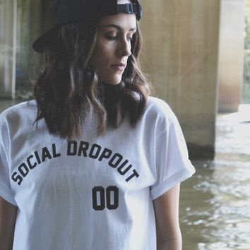 SOCIAL DROPOUT - JERSEY TEE