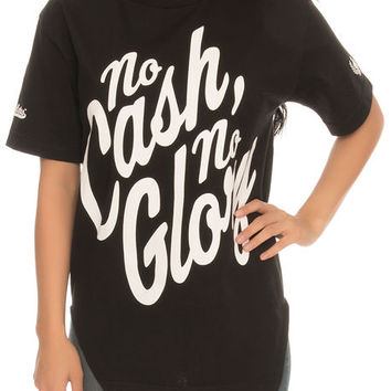 The Longline No Cash No Glory Tee in Black