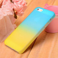 Cool Colorful Gradient Frosted Hard Cover Case For Iphone 5