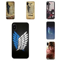 Cool Attack on Titan Anime Japanese  TPU Pattern Phone For Sony Xperia Z Z1 Z2 Z3 Z4 Z5 compact Mini Premium M2 M4 M5 T3 E3 E5 XA AT_90_11