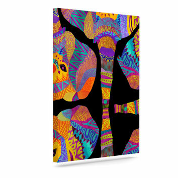 "Pom Graphic Design ""The Elephant In The Room"" Rainbow Tribal Canvas Art"