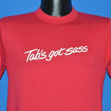 80s TAB's Got Sass Coca Cola t-shirt Small