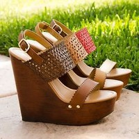 New Women's Sandals Wedge Platform Open Toe High Heel Sandal Shoes Size 5.5-10