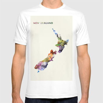 New Zealand T-shirt by monnprint