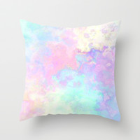 Runny colors Throw Pillow by Courtney Burns