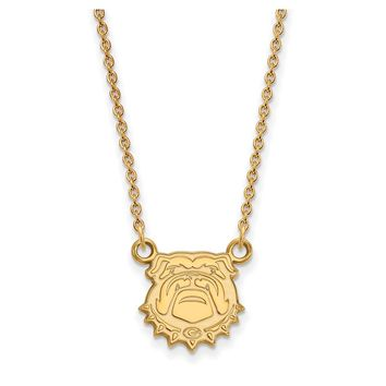 NCAA 14k Yellow Gold U of Georgia Small Pendant Necklace