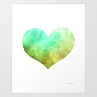 Woodland Heart Art Print by Epherica Art