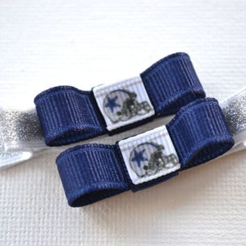 Dallas Cowboys Hair Clips - Toddler Hair Clips - Dallas Cowboys Bows Bows - Dallas Cowboys Stocking Stuffer