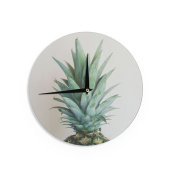 """Chelsea Victoria """" The Pineapple"""" Green Gold Wall Clock"""