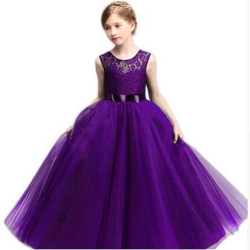 age 8 10 11 12 14 Year Girl Wedding Dress For Party Wear Children Long Dresses for Teenagers Girls Clothes Robe Ceremonie Fille