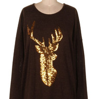 Glitter Deer Sweater