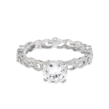 Beverley K Vintage Scroll Engagement Ring