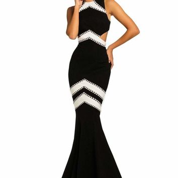 Johnathan Kayne - 8056 Two-Toned Mermaid Evening Gown