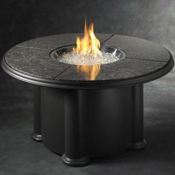 "Grand Colonial Fire Pit Table with 48"" Granite Top"