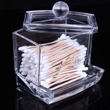 Tattoo Machine Pen Holder Storage Box Transparent Cotton Swabs Stick Cosmetic Makeup Organizer Case High Tattoo supply