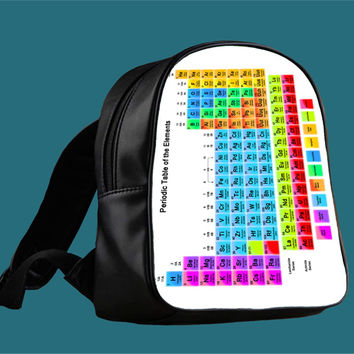 Periodic Table Of Elements for Backpack / Custom Bag / School Bag / Children Bag / Custom School Bag *