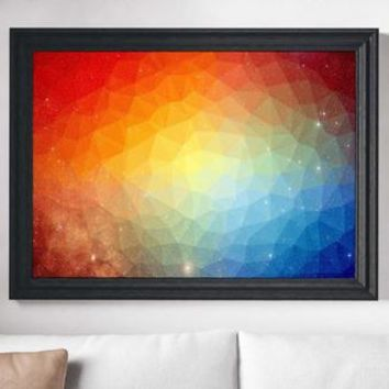 Space Painting Poster Art Print Canvas Print Wall
