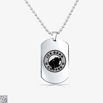Ice Bear Coffee, We Bare Bears Tag Necklace
