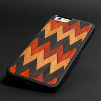 ZigZag - Apple iPhone 5 iPhone 4  Sony Xperia Samsung Galaxy Real Wood Black Transparent Case hard case
