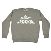 123t USA Geology Rocks Funny Sweatshirt
