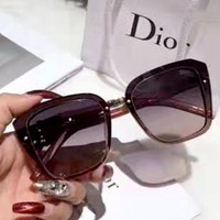 Free shipping-Dior personality retro large frame polarized sunglasses