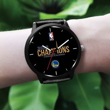 Golden State Warriors Watches For Women 2018 NBA Champions Leather Watches (6 Styles)