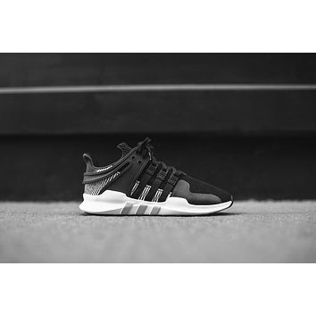 Adidas Originals Eqt Support Adv Black / Silver / White | Best Deal Online