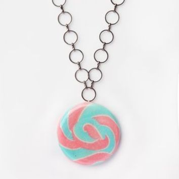 Glitterlimes Swirl Pop Necklace - Pink - Punk.com