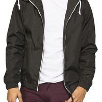 Guys Full Zip Nylon Hooded Jacket
