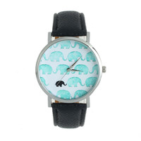 Teal 'Baby Elephants' Watch