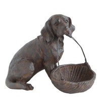Dog with Basket By Creative Coop