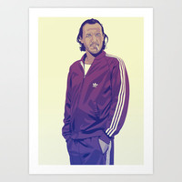 GAME OF THRONES 80/90s ERA CHARACTERS - Bronn Art Print by Mike Wrobel