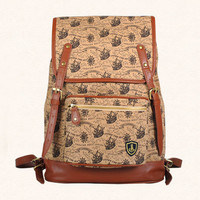 Retro fashion anchor marine feng shui hand shoulder bag backpack schoolbag