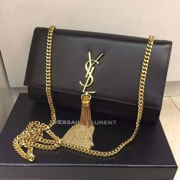 ONETOW YSL SAINT LAURENT A232011 BLACK BAG HANDBAG