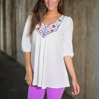Bead My Mind Blouse, Ivory