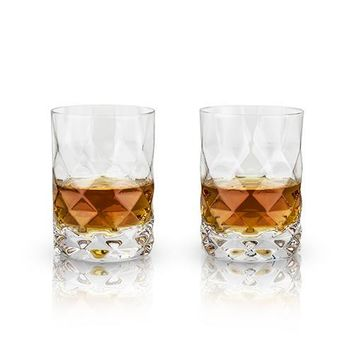 Set of 2 Raye Gem Crystal Tumblers by Viski