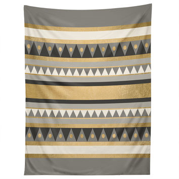 Elisabeth Fredriksson Golden Tribal Tapestry