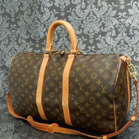 Tagre™ Rise-on LOUIS VUITTON MONOGRAM KEEPALL 45 Travel Strap Bag #22