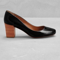 Block heel leather pumps | Block heel leather pumps | & Other Stories
