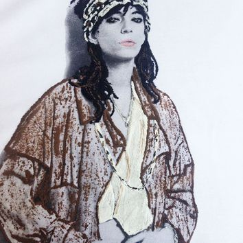 Patti Smith T shirt Unique T-shirt Art to Wear Painted 3d
