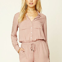 Button-Up Dolphin-Hem Romper