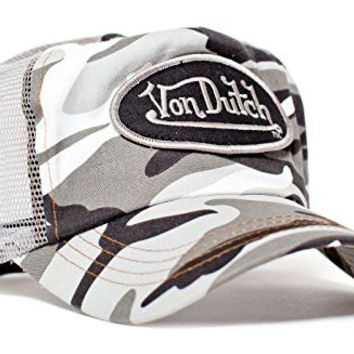 Von Dutch Originals Unisex-Adult Trucker Hat -One-Size Gray/Camo