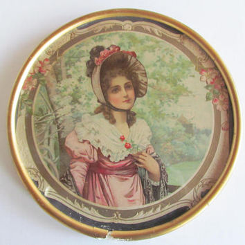 Antique Victorian Frame Victorian Portrait Picture Edwardian Lady Edwardian wall Decor Victorian Antique Frame Vintage Flue Cover