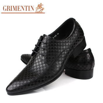 Fashion classic luxury men oxford shoes genuine leather black casual shoe man quality business wedding