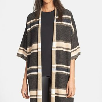 Women's Vince Texture Stripe Long Cardigan,