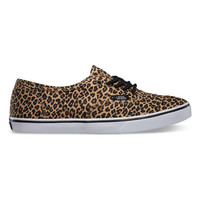 Vans Leopard Authentic Lo Pro Womens Shoes Herringbone  In Sizes