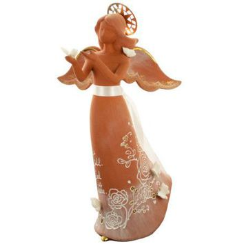 Angel with Butterflies Decorative Clay Figurine ( Case of 12 )